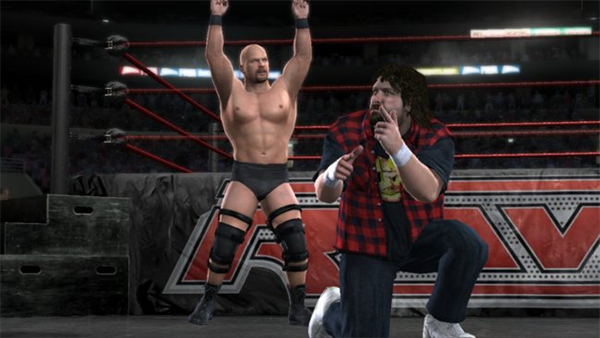 Smackdown vs Raw 2008 Austin and Foley